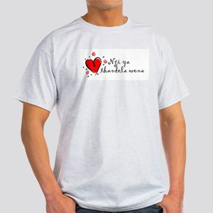 """I Love You"" [Zulu] Ash Grey T-Shirt"
